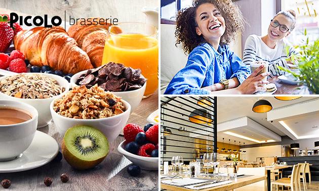 Uitgebreid ontbijtbuffet bij Brasserie Picolo