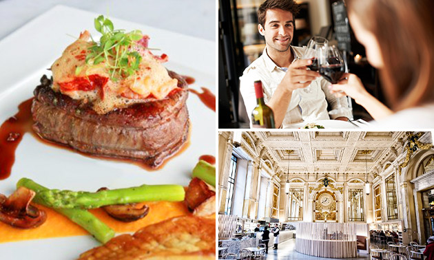 2-gangen keuzediner bij Brasserie Royal