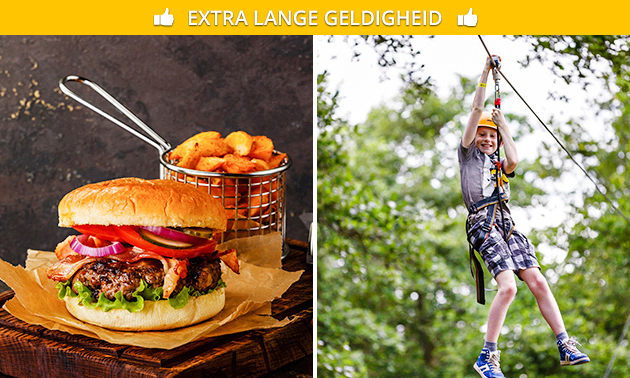 Toegang tot klimpark + snackmenu of dagschotel