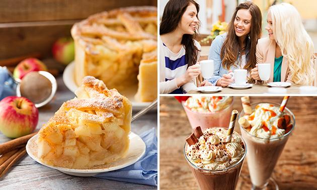 Milk-shake/smoothie + tarte au coeur de Bruxelles