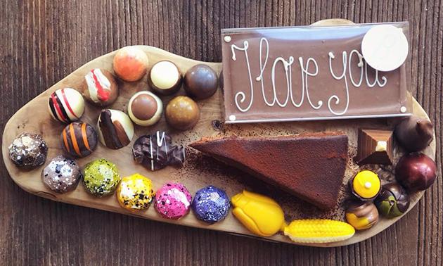 Chocolade-arrangement bij Brew
