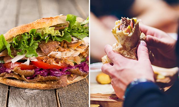 Thuisbezorgd: broodje, durum of schotel + friet + drankje