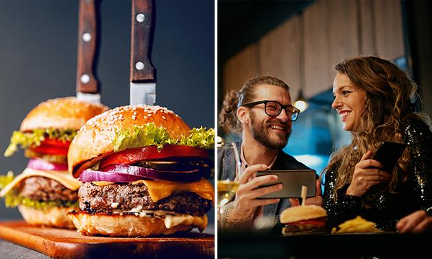 Menu burger à la carte + dessert + boisson soft