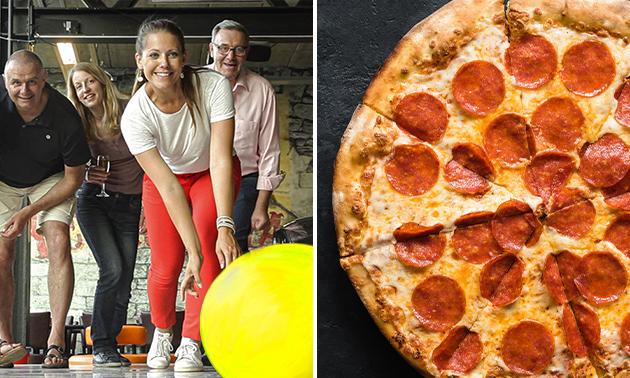 Spel led-bowling + pizza en drankje naar keuze