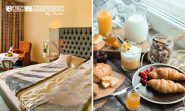 Overnachting(en) + ontbijt voor 2 bij Burg Wassenberg