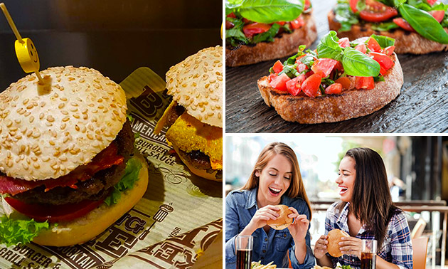 Ierse hamburger + friet + dessert bij Burger Boulevard