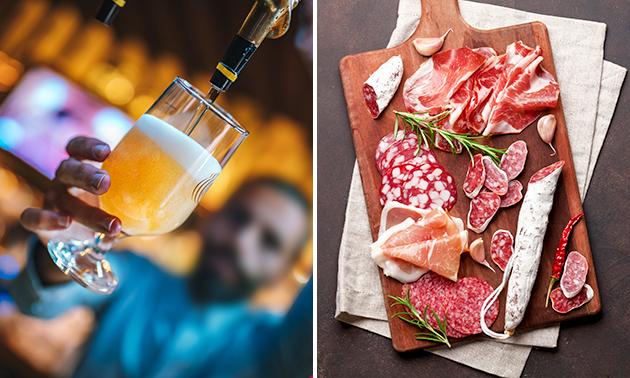 4 glazen speciaalbier + evt. luxe borrelplank
