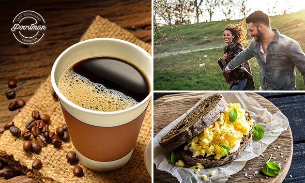 Wandelarrangement + lunchpakket to go bij Poortman