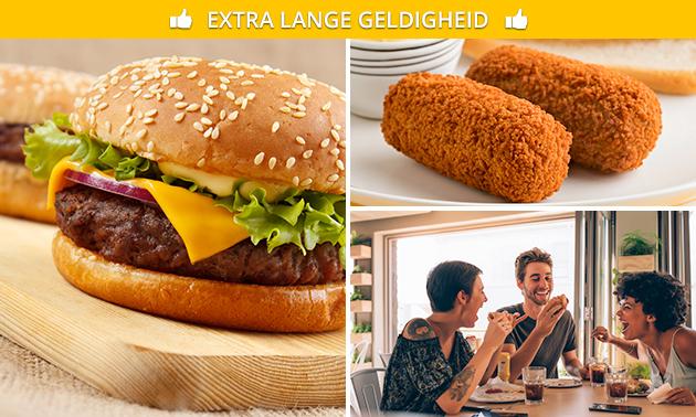 Afhalen: snack- of burgermenu