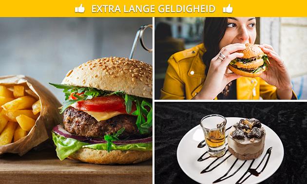 Afhalen: 2-gangen hamburgerdiner bij Cafetaria Netwerk