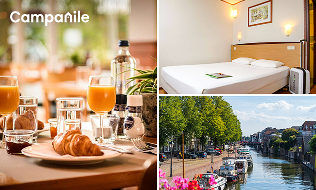Overnachting voor 2 + ontbijt in Gorinchem