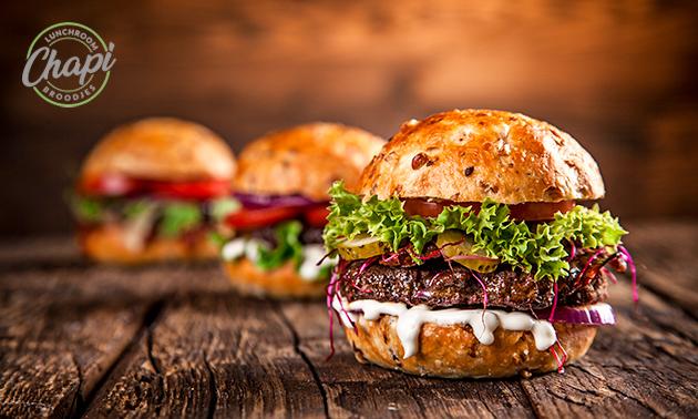 Afhalen: burgermenu of broodje + frisdrank bij Chapi Broodjes