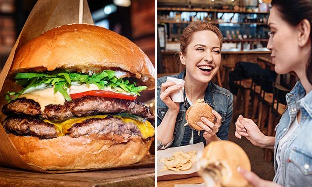 Hamburger naar keuze of kip + friet + drankje