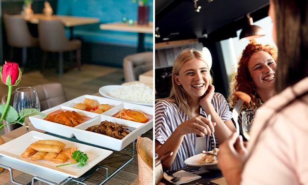 Uitgebreid shared dining-diner