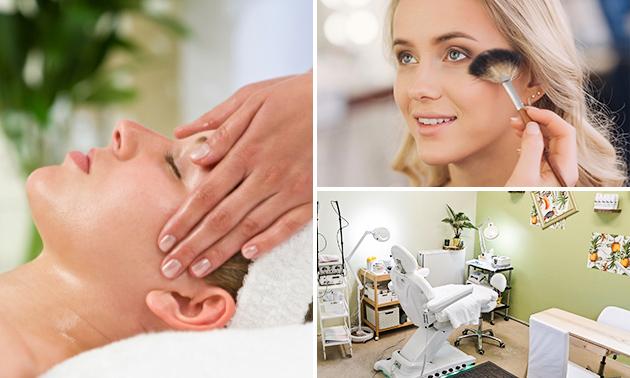 Gezichtsbehandeling + drainage + kleurtherapie