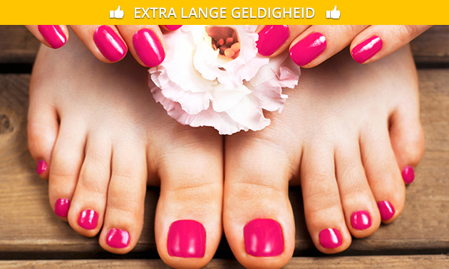 Gellak incl. manicure- of pedicurebehandeling