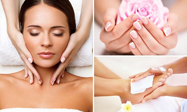 Manicure- of pedicurebehandeling óf gezichtsbehandeling (60 min)