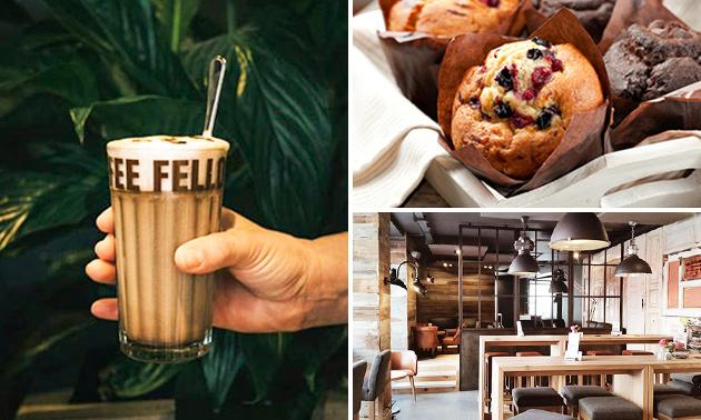 Afhalen: koffie + muffin naar keuze bij Coffee Fellows