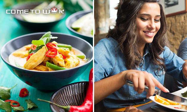 Thaise afhaalmaaltijd + drankje bij Come to Thai Wok