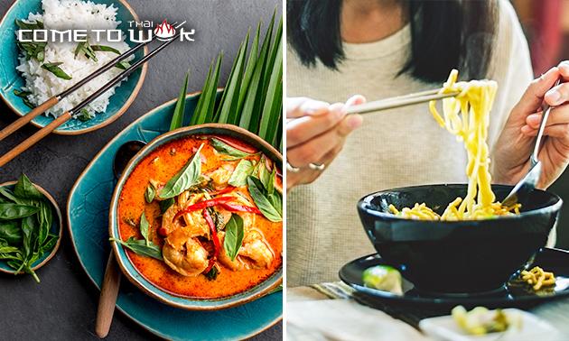 Afhalen: Thaise maaltijd + drankje bij Come to Thai Wok