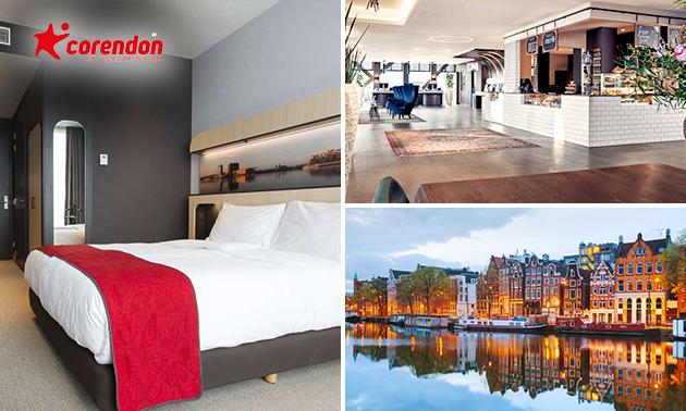 Luxe overnachting voor 2 + ontbijt + diner in Amsterdam