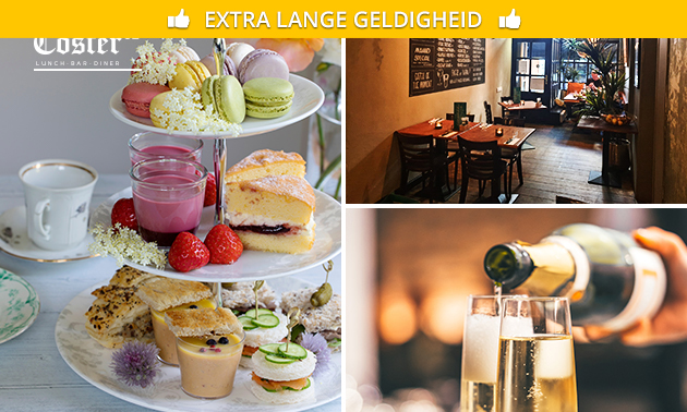 High tea + prosecco bij Coster 52