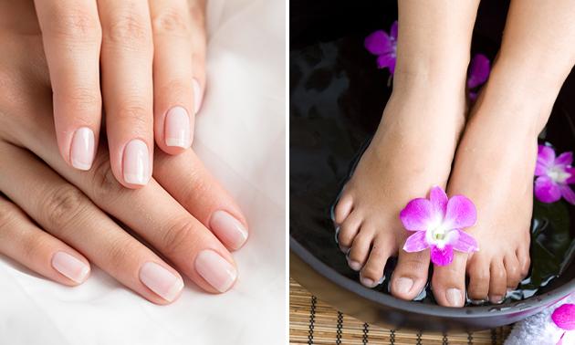 Gellak + mini-manicure- of spa-pedicurebehandeling