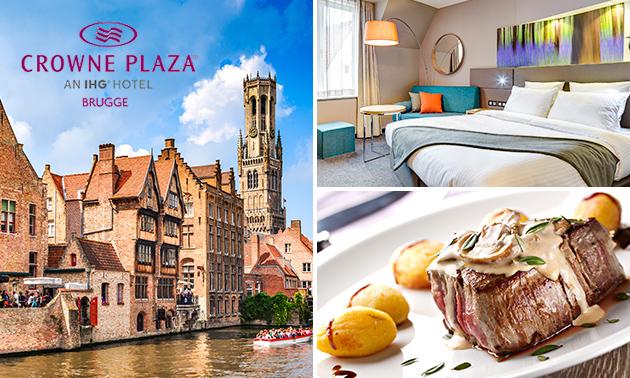 Nuit pour 2 + petit déjeuner + dîner au coeur de Bruges
