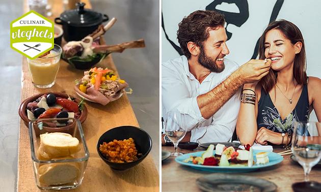 Thuisbezorgd: fingerfood-diner + wijn voor 2