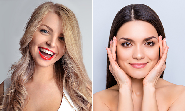 Tanden bleken of powder brows
