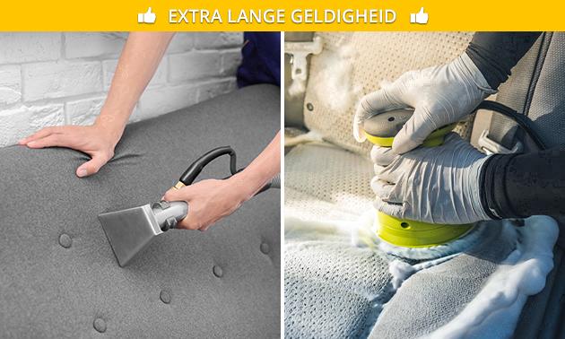 Reiniging meubels of autobekleding (2 uur)