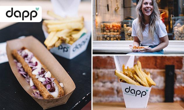 Afhalen: puntzak friet + snack + drankje bij Dapp