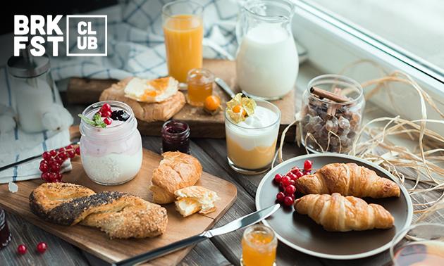 Thuisbezorgd of afhalen: compleet ontbijt (1 of 2 personen)