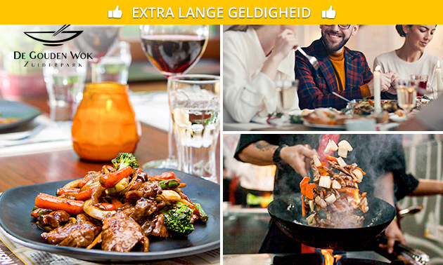 All-You-Can-Eat & Drink (3 uur) bij De Gouden Wok