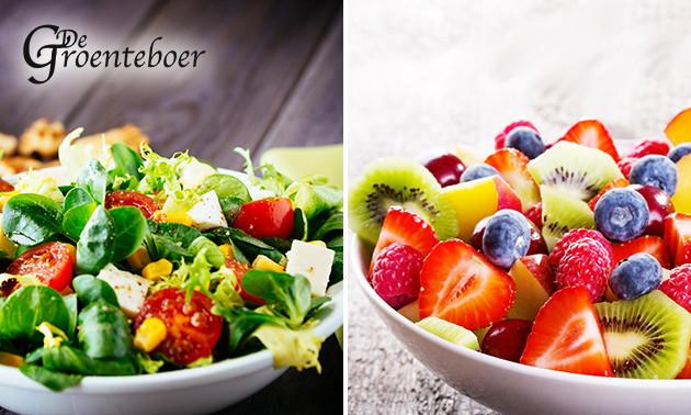 Maaltijdsalade + fruitsalade van De Groenteboer