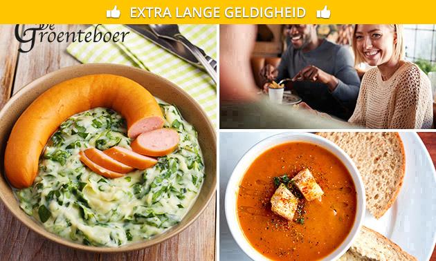 Afhalen: soep of maaltijd naar keuze voor 2