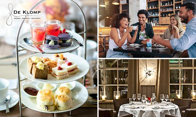 Luxe high tea + glas bubbels bij De Klomp
