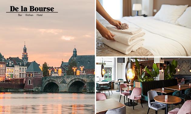 Hotelovernachting + ontbijt voor 2 in hartje Maastricht