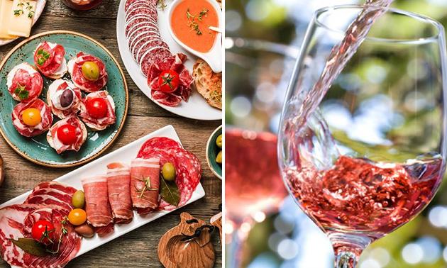 Tapasproeverij + fles rosé voor 2 bij De Lindendreef