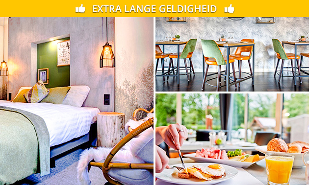 Overnachting + ontbijt voor 2 aan de Maas