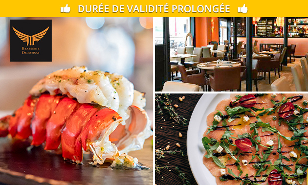 Menu de homard en 4 services chez De Metinas