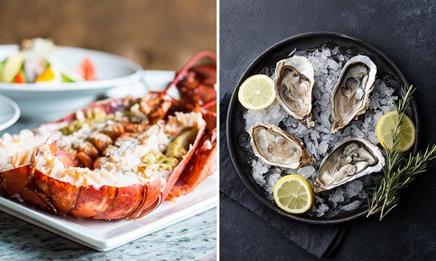 Afhalen: halve kreeft + 3 oesters