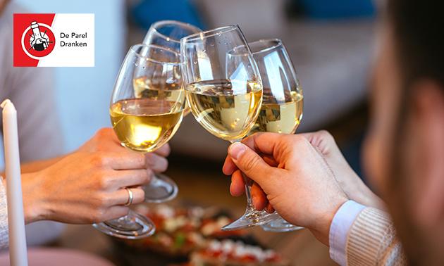 Thuisbezorgd of afhalen: mystery-wijnpakket (4 personen)