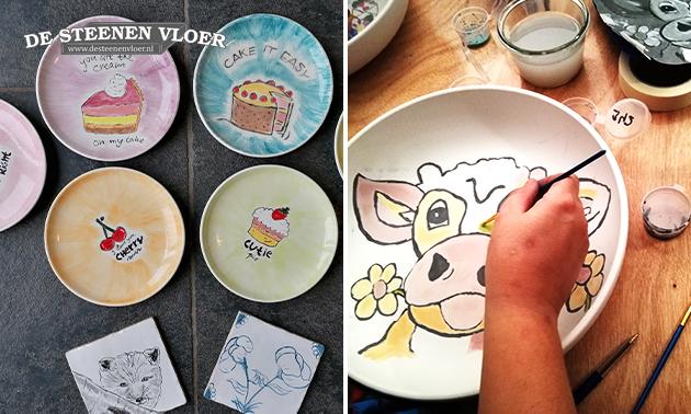 Workshop keramiek schilderen (1,5 uur)