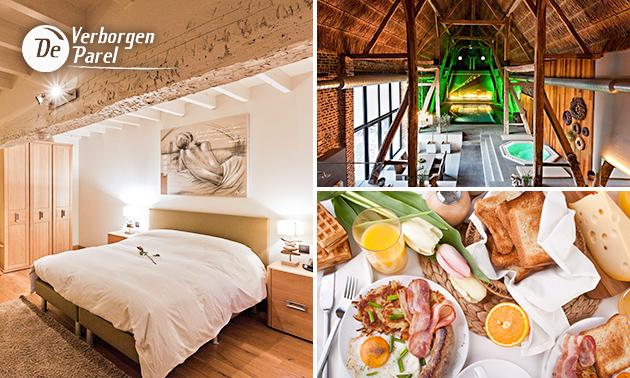 Luxe overnachting + ontbijt + aperitief nabij Hasselt