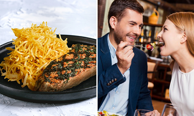 Steak met Hasseltgras + aperitief bij De Witte