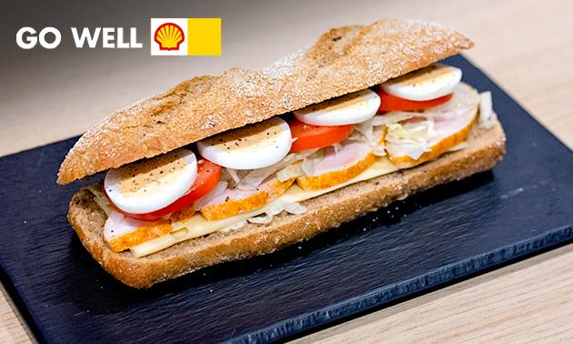 Afhalen: belegd broodje bij deli by Shell