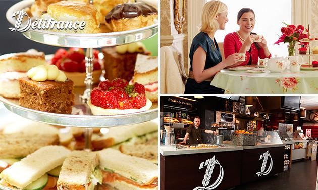 Ontbijt of high tea (2,5 uur) bij Délifrance in hartje Leiden