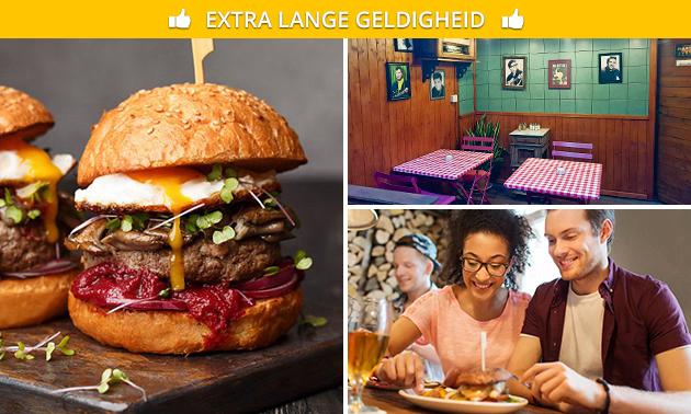 3-gangen burgerdiner bij Deluxe Burger