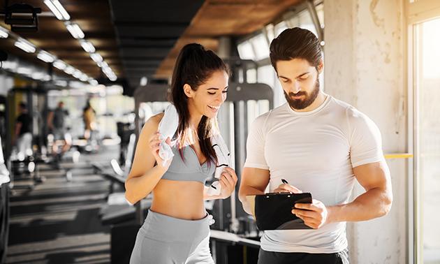 6 weken onbeperkt fitness + 1 uur personal training